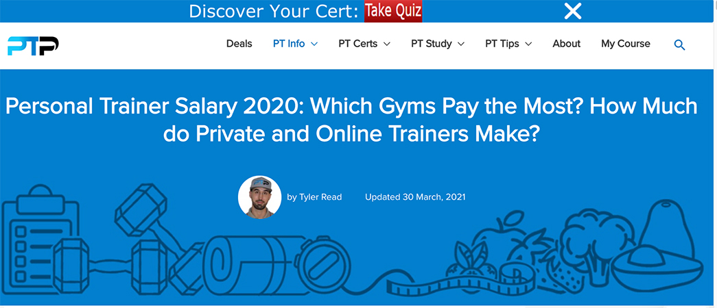 Personal Trainer Salary 2020 at PTPioneer