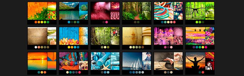 Paletas de cores do site Shutterstock Palette