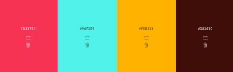 Paleta de cores do Palettable