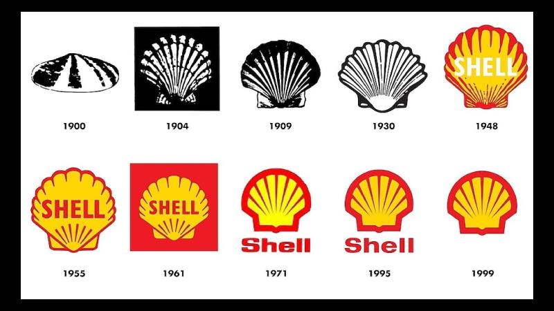 Rebranding da Shell ao longo dos anos
