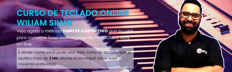 Captura de tela do curso de teclado online Wiliam Silva