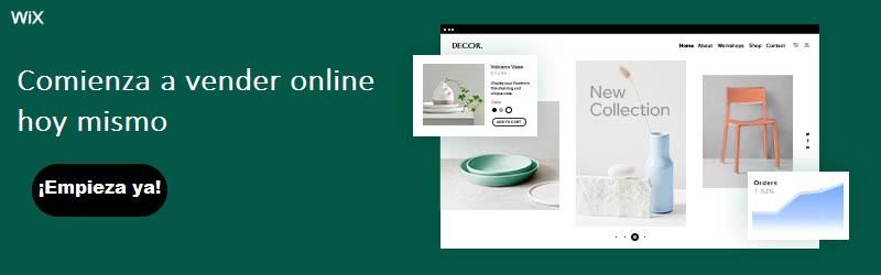 Banner para crear ecommerce con Wix