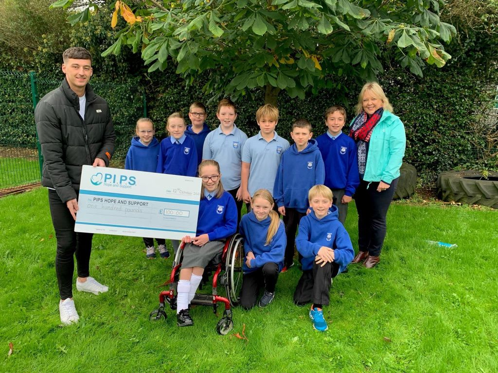 Poyntzpass Primary School's Donation to PIPS Hope and Support