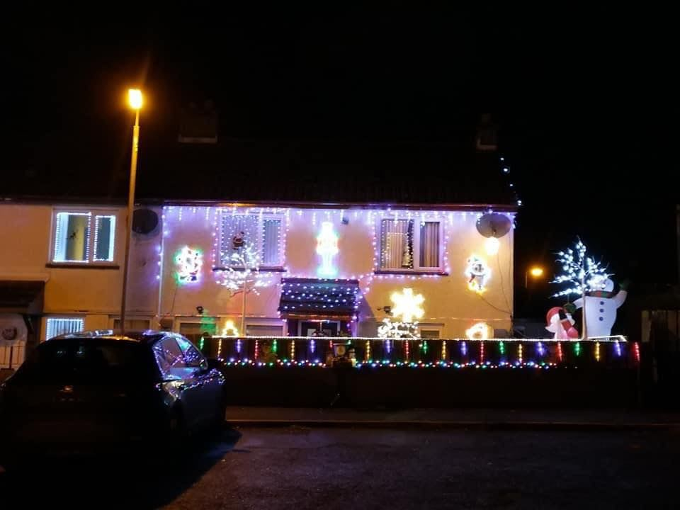 Christmas Lights Display for Suicide Prevention