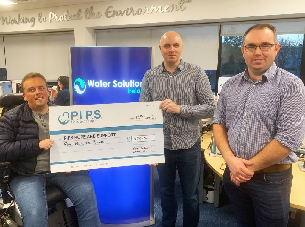 Water Solutions Ireland Christmas Donation in Lieu of Business Gifts