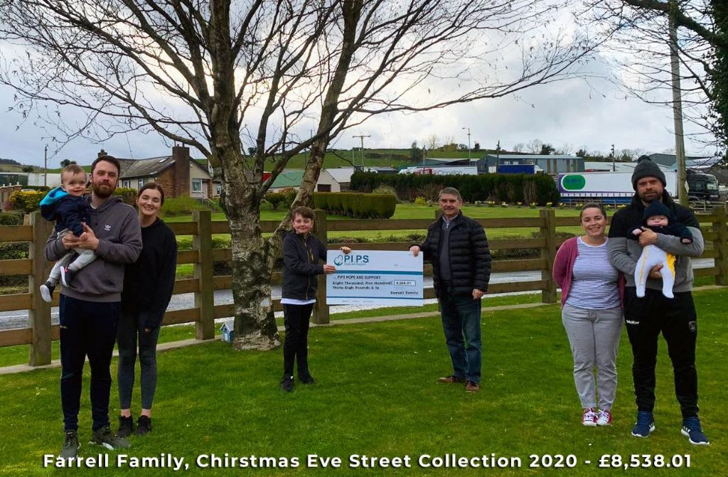 Annual Remembrance Collection in Camlough on Christmas Eve 2020 in Honour of Stephen and John Farrell