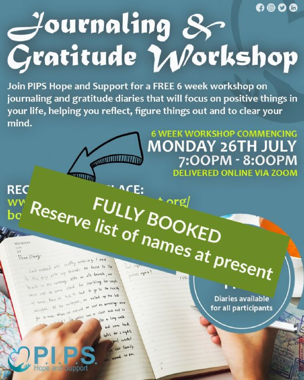 Journaling and Gratitude Workshop - FULLY BOOKED