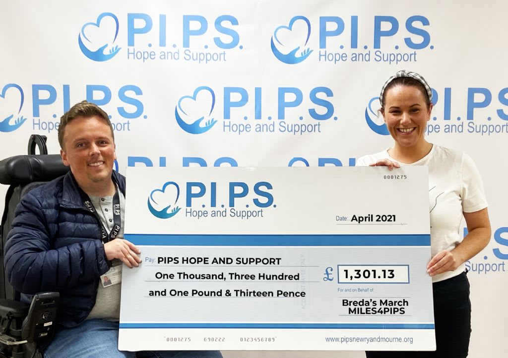 Breda's March MILES4PIPS raises £1,301.13