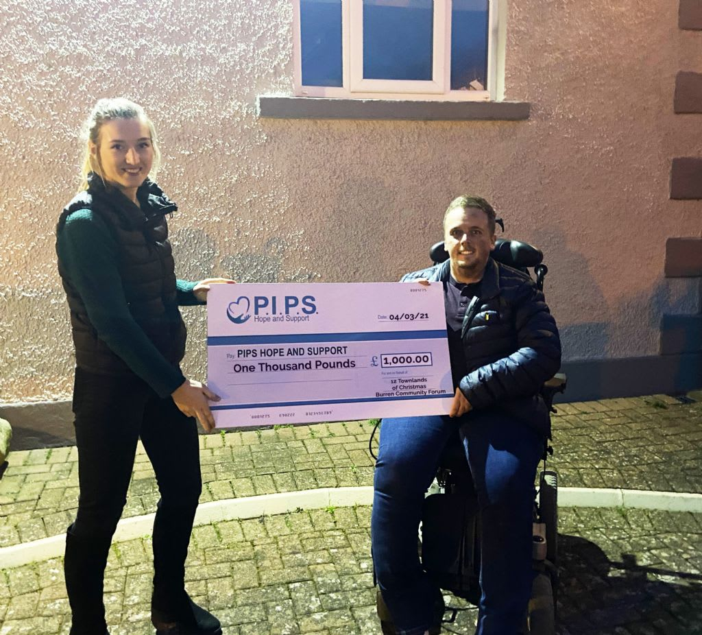 Burren's 12 Townlands of Christmas Clocks Up £1,000 for PIPS Hope and Support