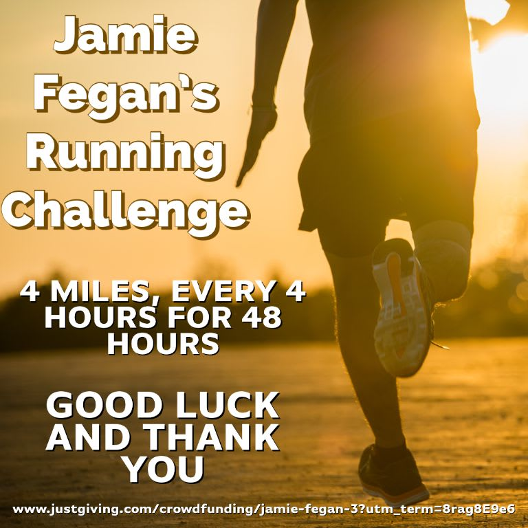 Jamie's 48 Hour Challenge For PIPS Hope and Support & SAHS
