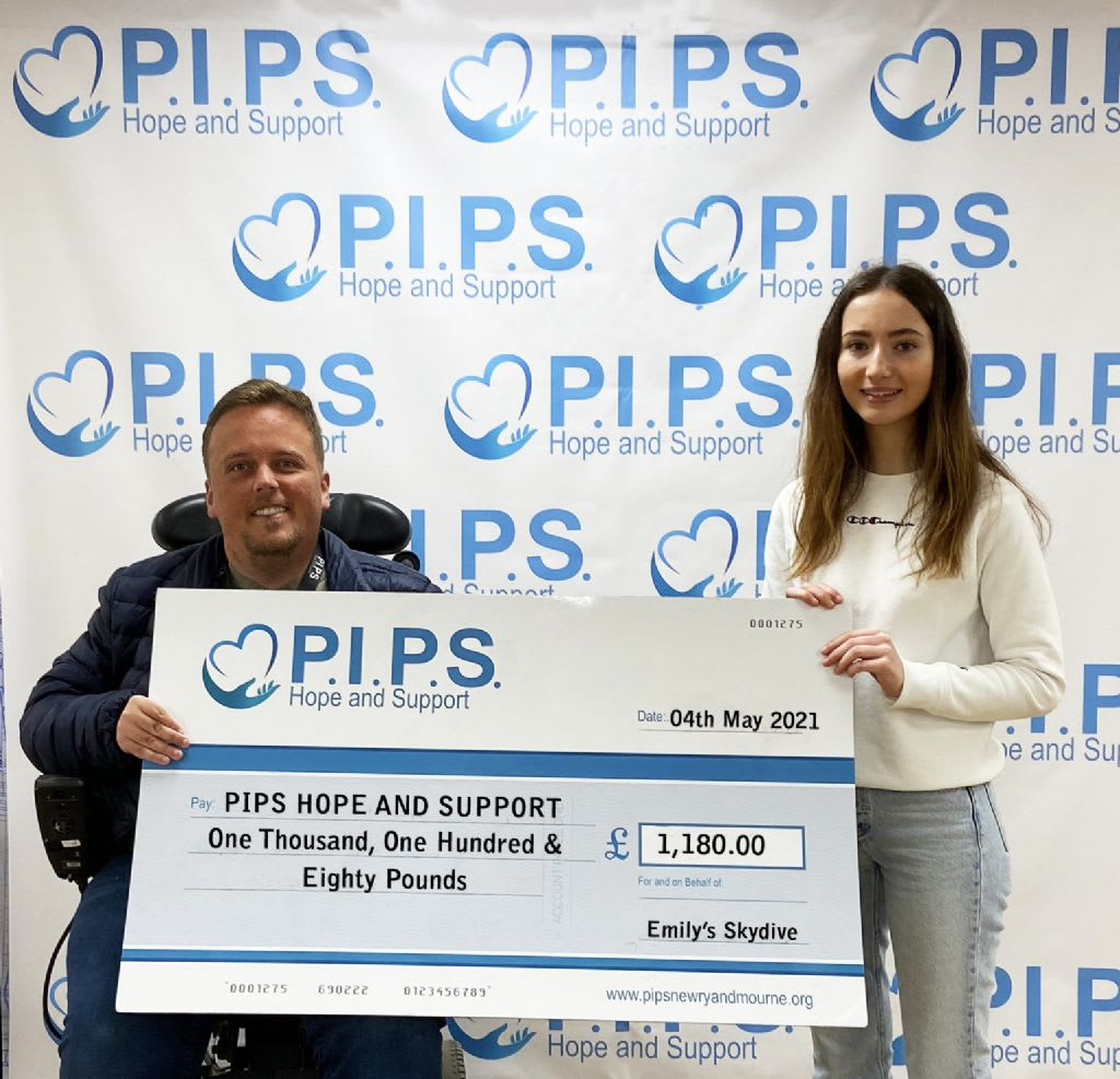 Emily's Skydive For PIPS Hope and Support