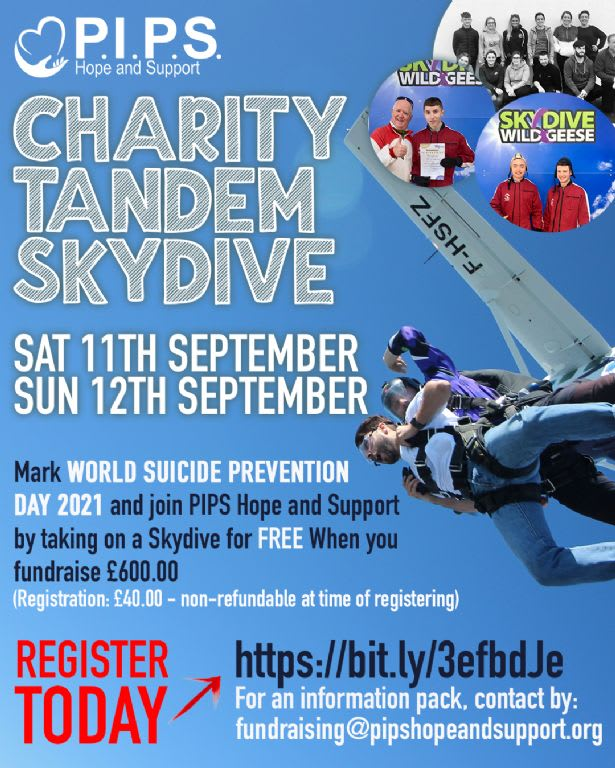 Skydive for World Suicide Prevention Day