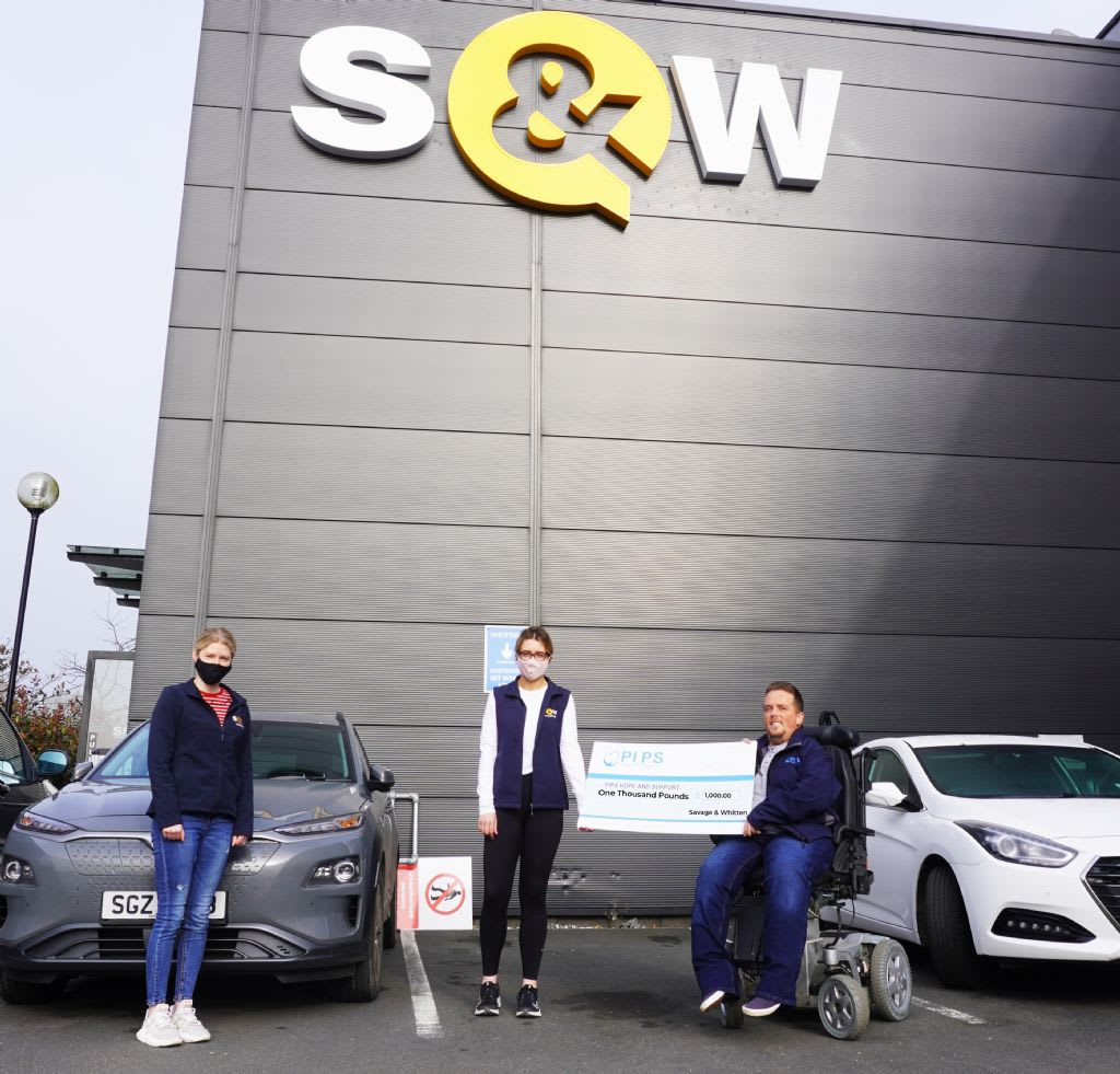 S&W Wholesales Staff Donates £1,000.00 To PIPS Hope and Support