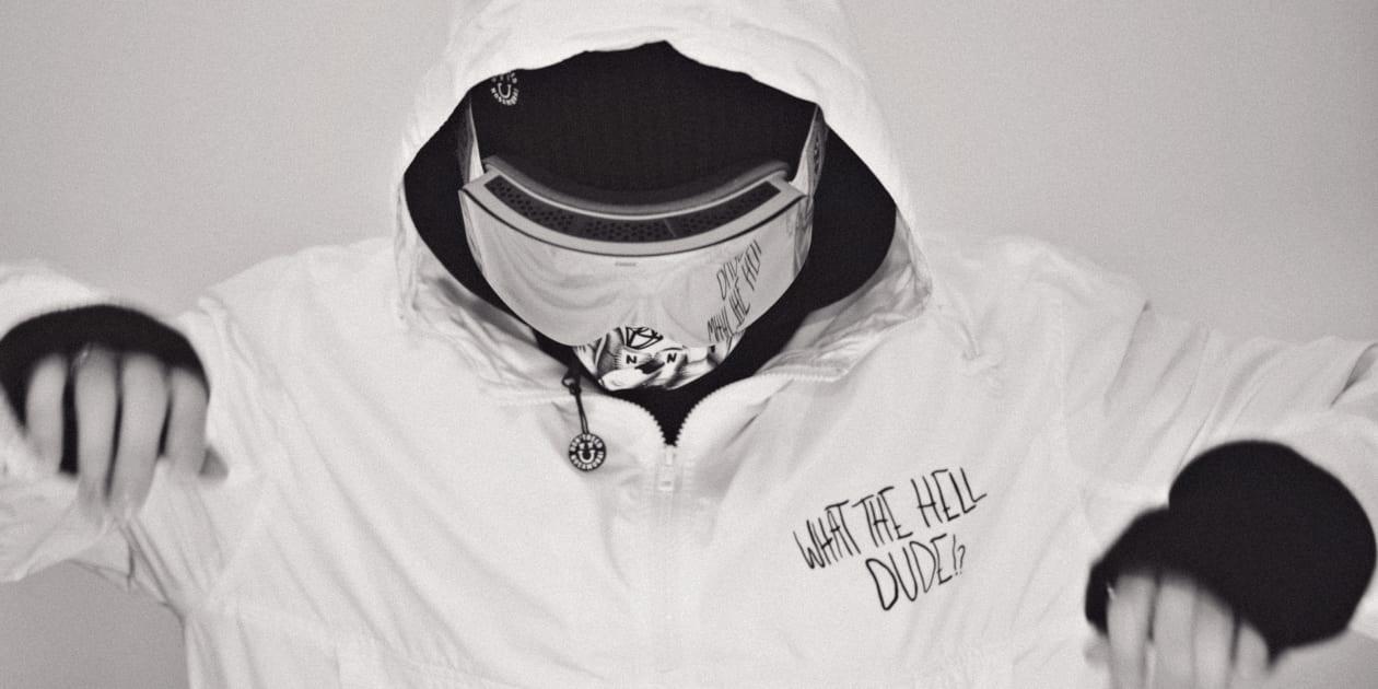 biała kurtka