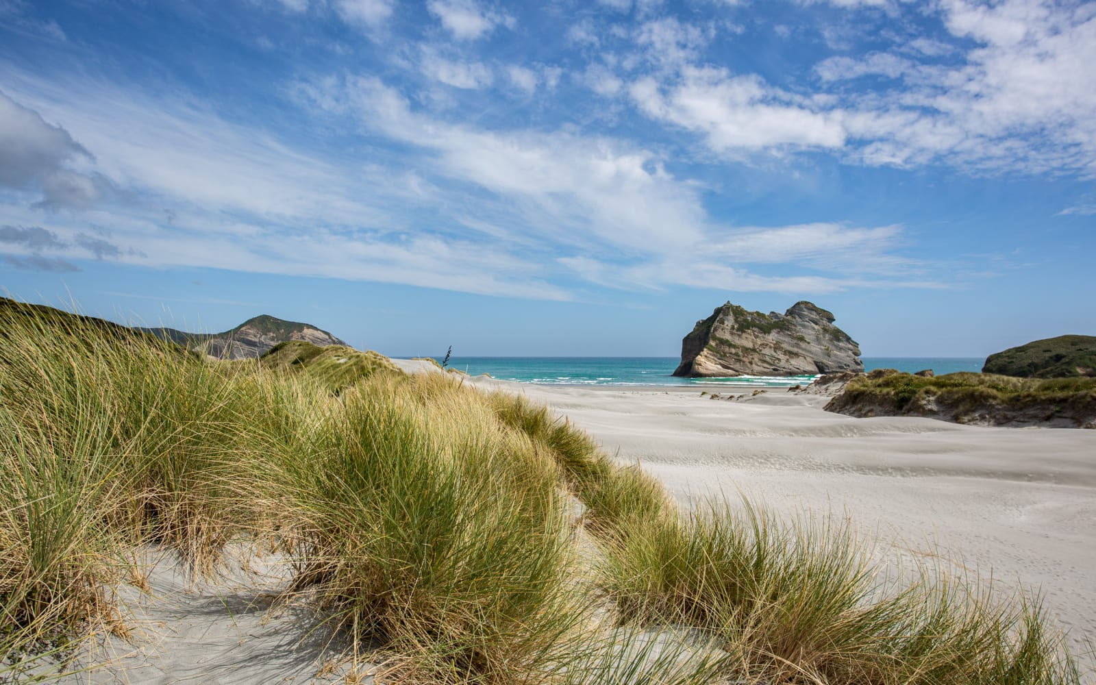 >Wharariki Beach