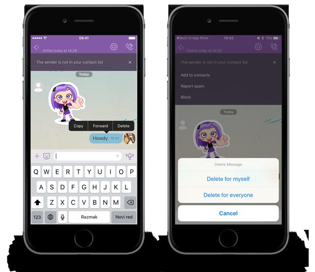 """Viber φροντίζει τα """"άβολα"""" μηνύματα"""