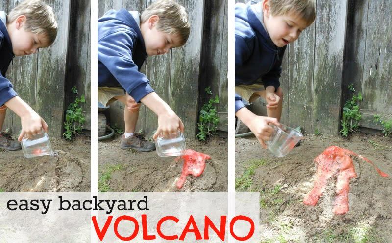 easy backyard VOLCANO