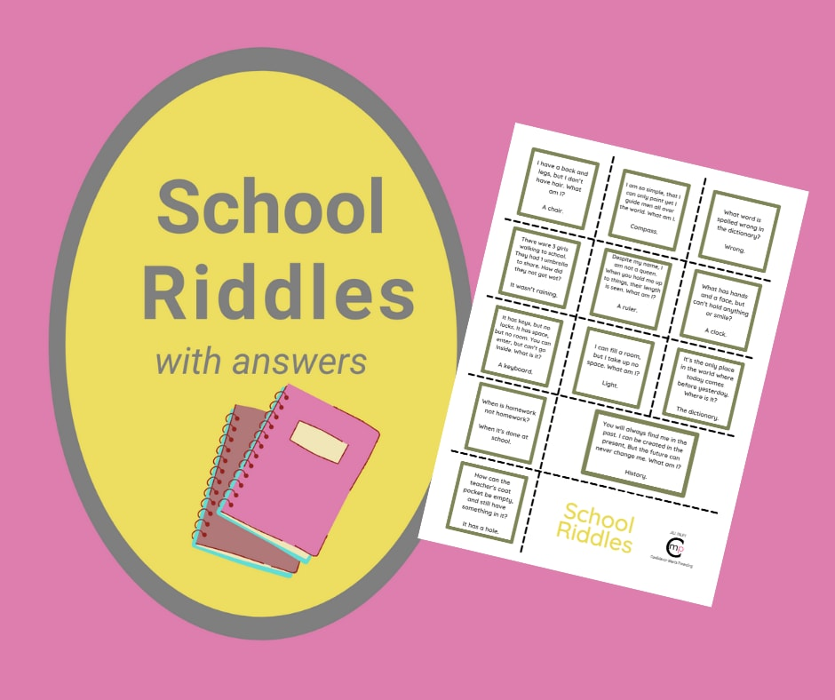 12 Printable, Funny Riddles about School with Answers