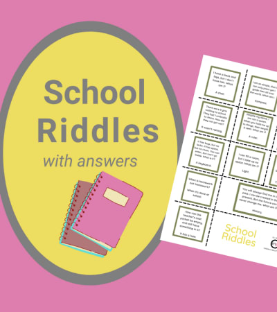 12 School Riddles with Answers