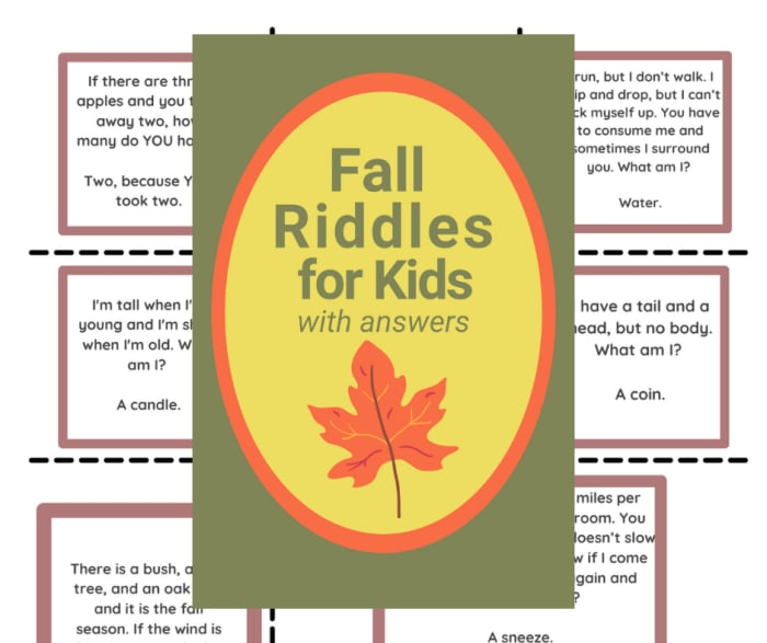 Fall riddles with answers for kids