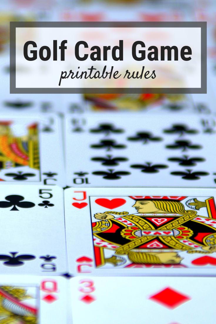golf card game rules