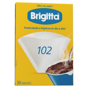 Filtro de Papel Brigitta 102 Caixa 30 Unidades