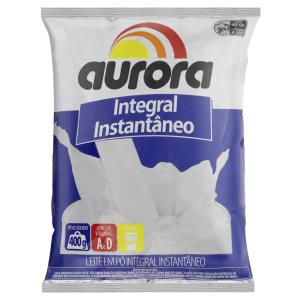 Leite em Pó Instantâneo Integral Aurora Pacote 400g
