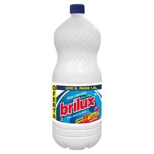 Água Sanitária Brilux Frasco Leve 2l Pague 1,8l