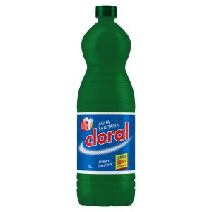 Água Sanitária Cloral Frasco 1l