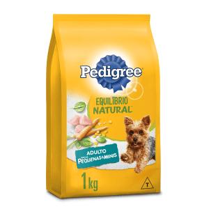 Alimento para Cães Adultos Raças Minis e Pequenas Frango Pedigree Equilíbrio Natural Pacote 1kg
