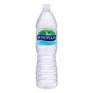 Água Mineral Natural sem Gás Petrópolis Garrafa 1,5l