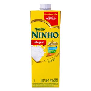Leite UHT Integral Nestlé Ninho Forti+ Caixa com Tampa 1l