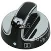 New World Main Oven Control Knob - Black / Chrome