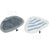 Hoover AC24 Textile Microfibre Steam Mop Pad (Pack Of 2)