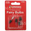 Bombillas De Navidad Transparente- Pack De 4 The Christmas Workshop