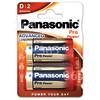 Panasonic D Pro Power Alkali Batterien 2er Blister