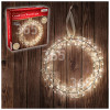 The Christmas Workshop 38cm 100 LED Warmweiße Kranzleuchte