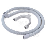 Alternative Manufacturer Universal 1.5m Drain Hose (Straight To Right Angle End) - For 21/22mm Outlets