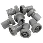 Empfohlenes alternatives Ersatzteil Spülmaschinen-Geschirrkorbrolle - Oben (8er Packung)
