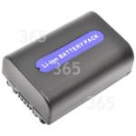Recambio aprobado por 365 Recambios Batería Para Videocámara Compatible NP-FH50