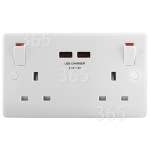 Alternative Manufacturer 2 Gang Power Socket With 2A USB Charging Ports