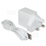 Classic Power Adaptador De Corriente USB (Cable 3 Terminales Reino Unido)