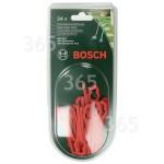 Original Bosch Qualcast Atco Suffolk Rasentrimmer-Kunststoffmesser (24 Stück) : ART26LI ART26ACCUTRIM ART26EASYTRIM