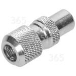 Antiference Clavija Coaxial De Aluminio (Pack De 25)