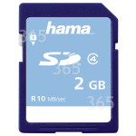 Original Hama Memory Base SD 2GB Class 4 Speicherkarte