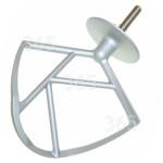 Original Kenwood Batidor K De Aluminio De Robot De Cocina - Nuevo Eje Circlip
