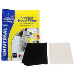 Alternative Manufacturer Cooker Hood Grease Paper & Carbon Filter Kit : Grease Filter 1140x470mm / Charcoal Filter 570x470mm ; CUT TO SIZE