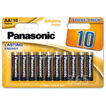 Genuine Panasonic AA Alkaline Power Batteries (Pack Of 10)