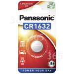 Original Panasonic CR1632 3 Volt Lithium Knopfzelle