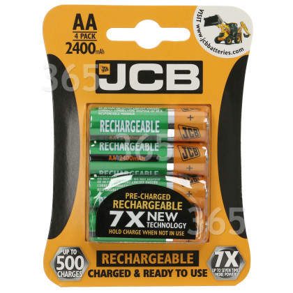 JCB AA Rechargeable Batteries | Spares, Parts & Accessories